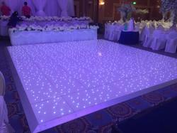 Large Lit up dance floor arrangement