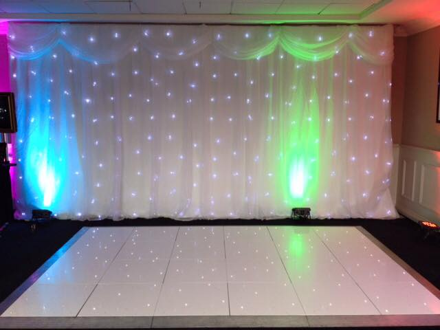 Back drop and Dancefloor