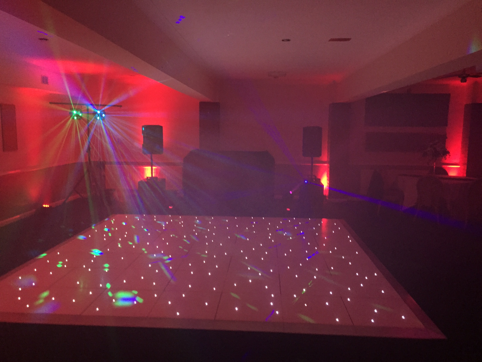 White lit up dance floor