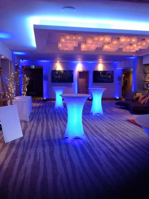 LED Light up Poser tables