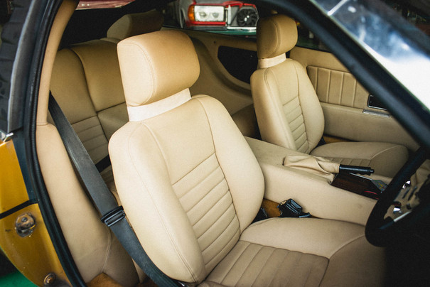 Brand new leather upholstery