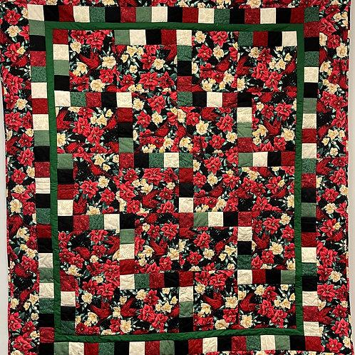 W291 - Poinsettias & Cardinals