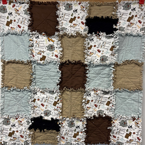 W205 - Dogs Rag Quilt