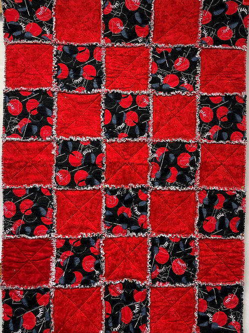 W124 - Sporty Red Rag Quilt