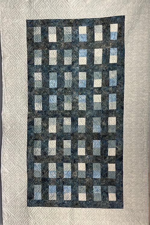 W010 - Blue Trellis