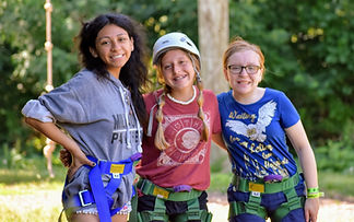 Cabin leader with campers
