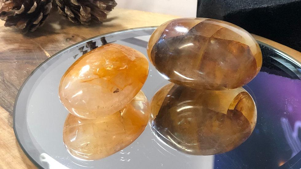 Golden Healer Palm Stone