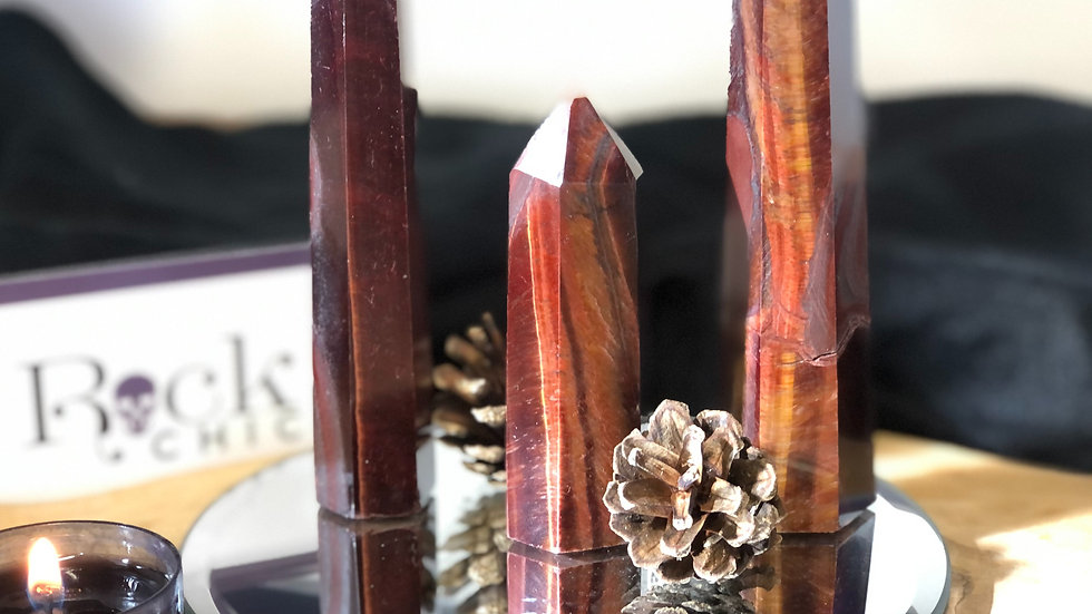Red Tigers Eye Tower