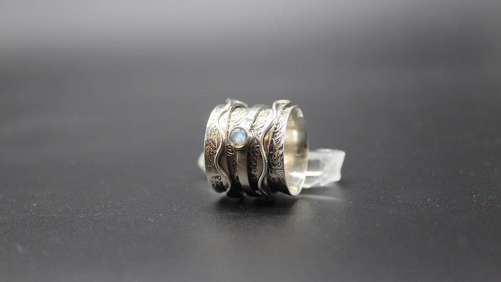 Labradorite Meditation Ring in Sterling Silver