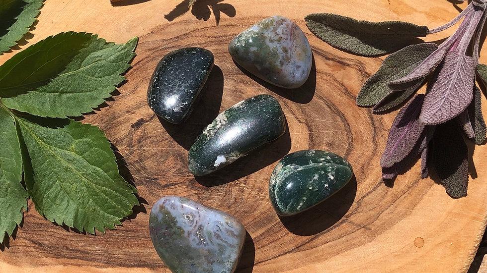 Moss Agate Tumble Stone