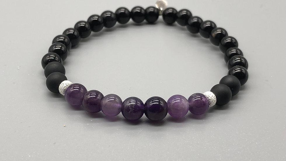 Amethyst Intuition Crystal Energy Bracelet