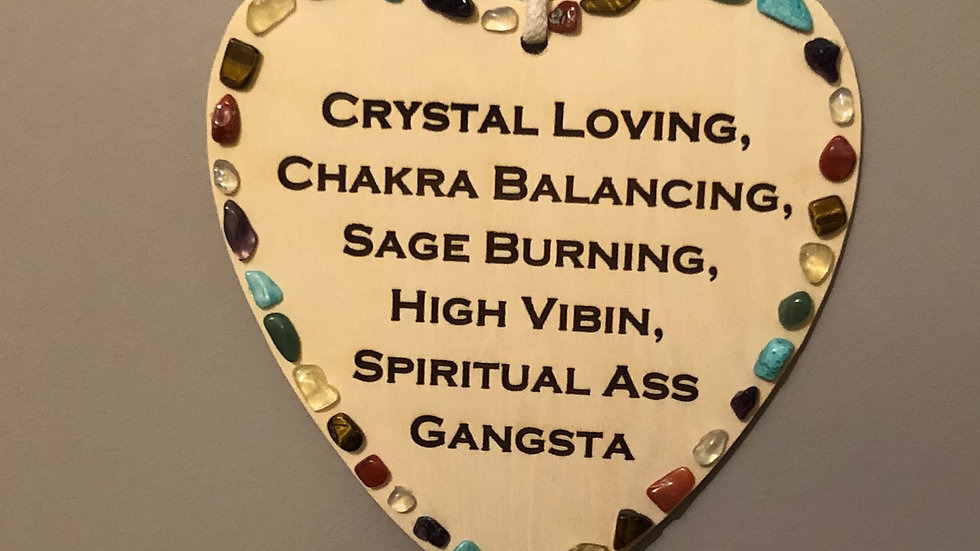 Crystal Quote Wall Hanging