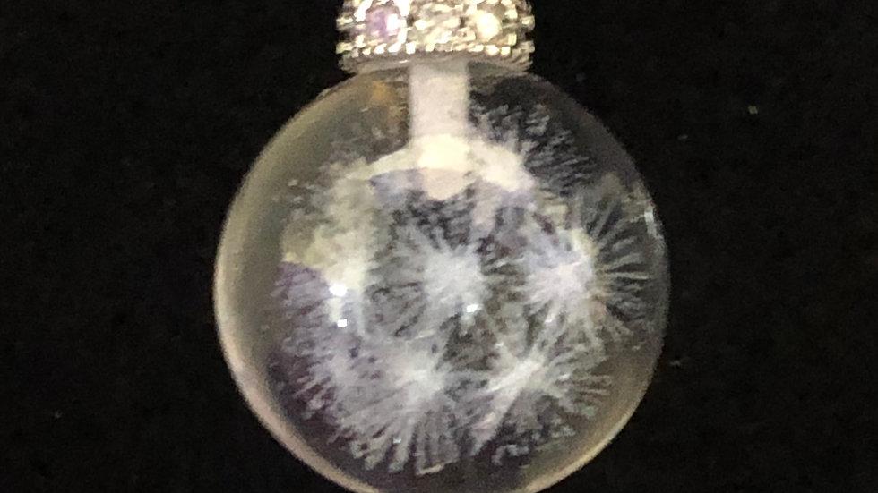 Sterling Silver Clear Quartz Wish Pendant & Chain