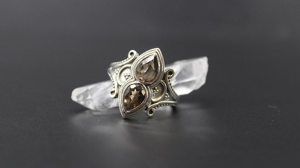 Smokey Quartz Ring in Sterling Silver
