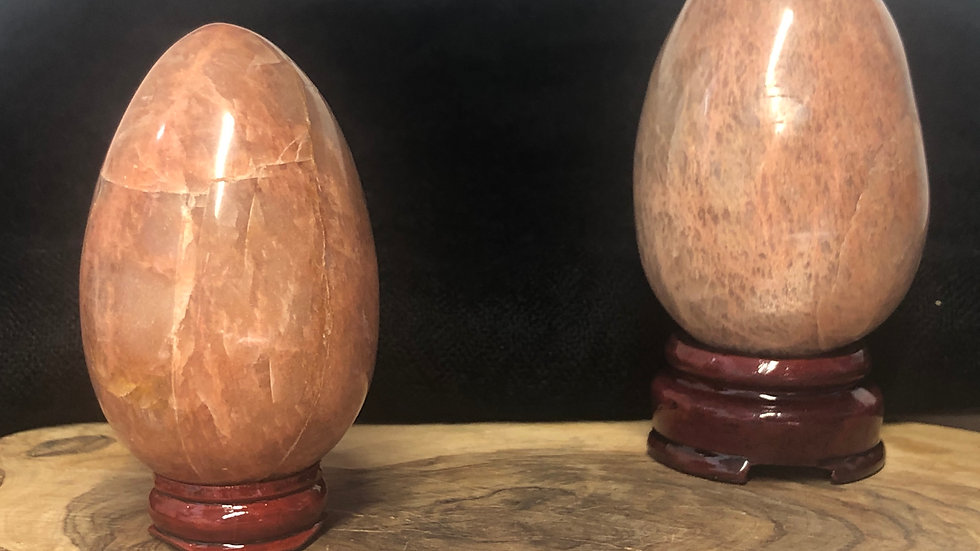 Peach Moonstone Egg