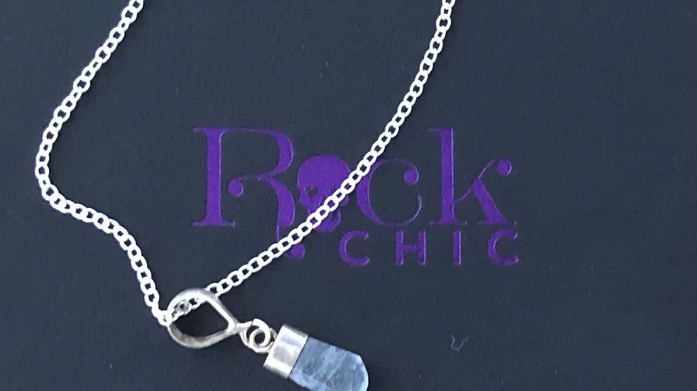 Sterling Silver Aquamarine Pendant & Chain