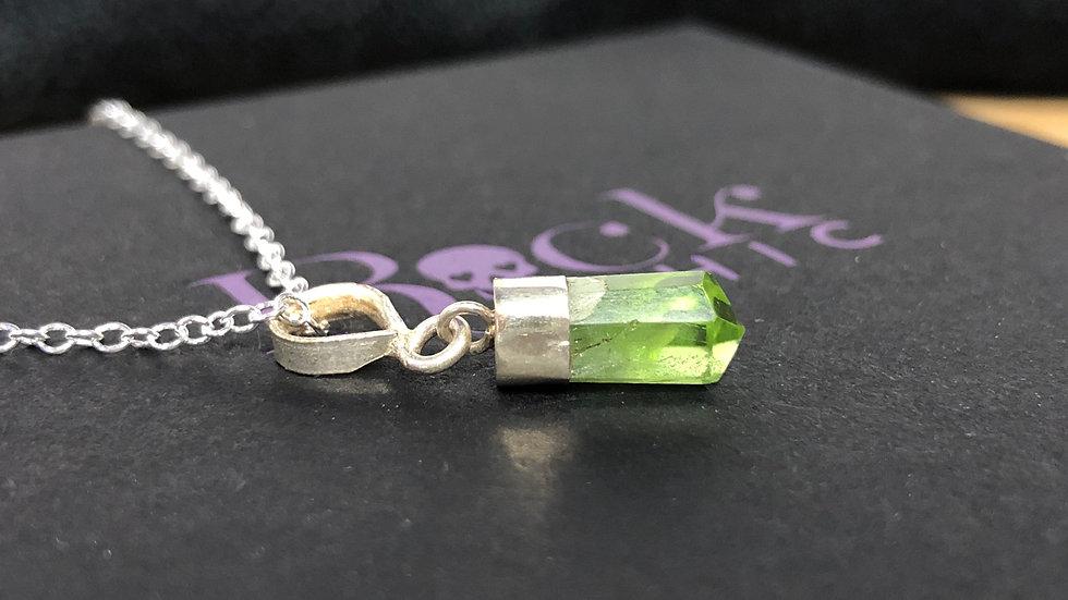 Sterling Silver Peridot Pendant & Chain
