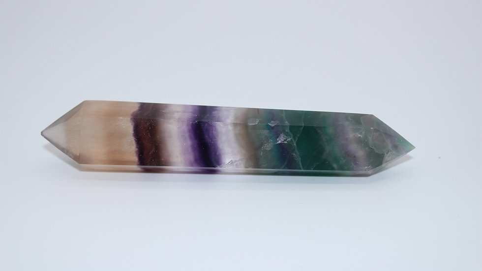 Rainbow Fluorite Double Point