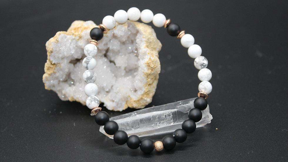 Calming & Grounding Crystal Energy Bracelet