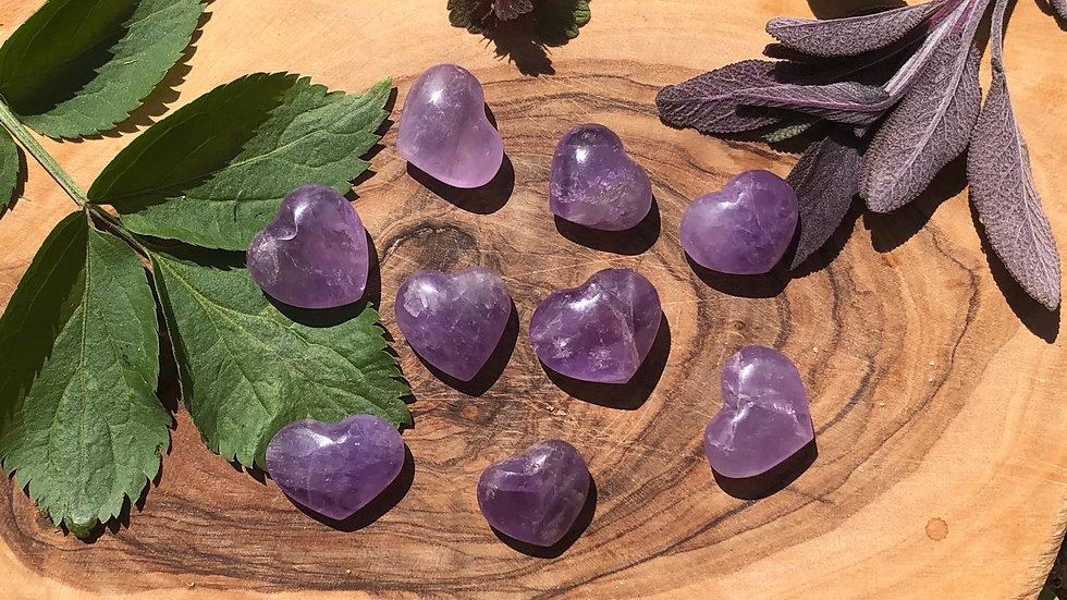 Mini Amethyst Hearts