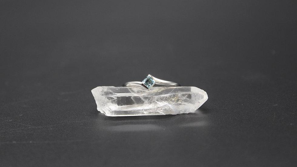 Swiss Blue Topaz Sterling Silver Stacker Ring