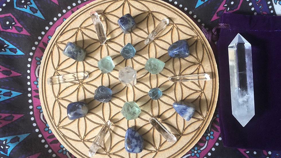 Bring Balance To Your Life Crystal Grid Set