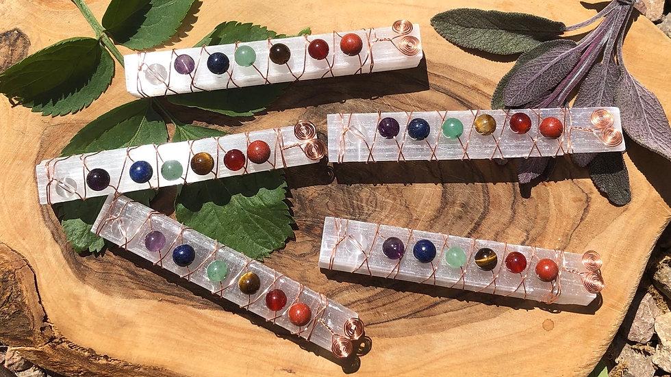 Selenite Chakra Alignment Sticks