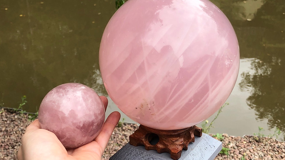 XL Rose Quartz Sphere