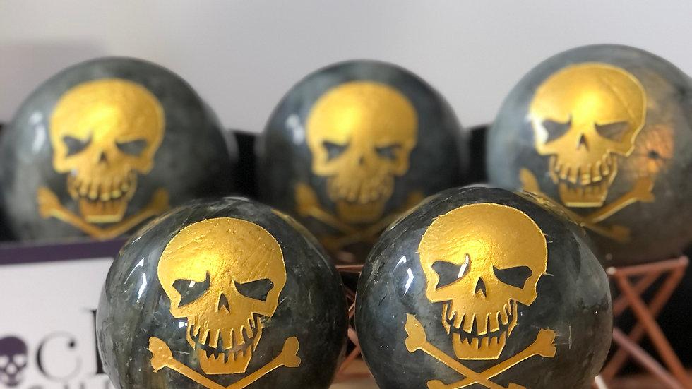 Labradorite Skull Sphere
