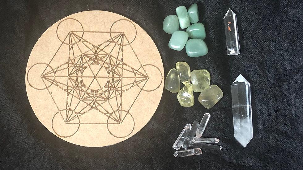 Manifest Abundance Crystal Grid Set