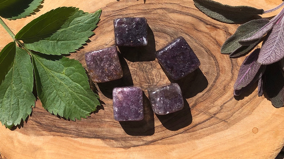Lepidolite Cubed Tumble Stone