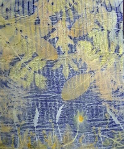 Logwood Landscape Textile art