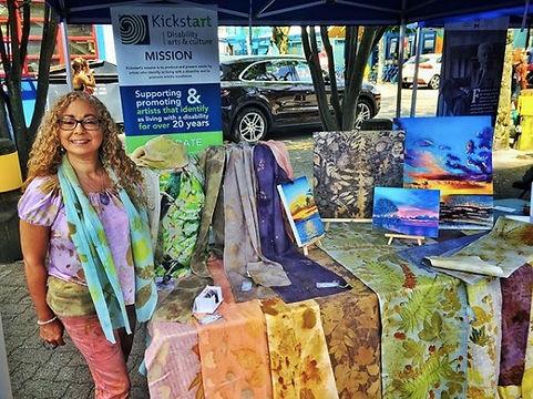 Rose L. Williams at Granville market