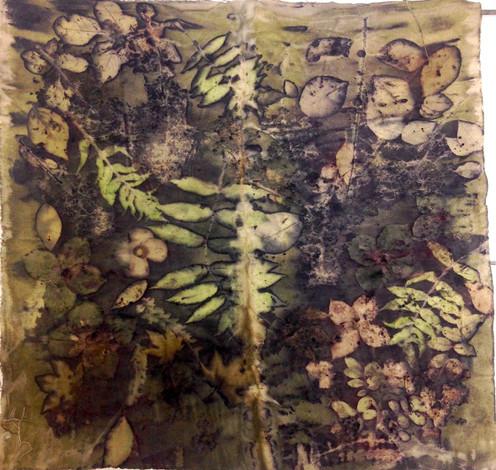 Walnut on Cotton Canvas