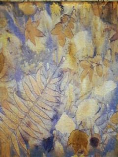 Detail of Linen & Logwood Stole