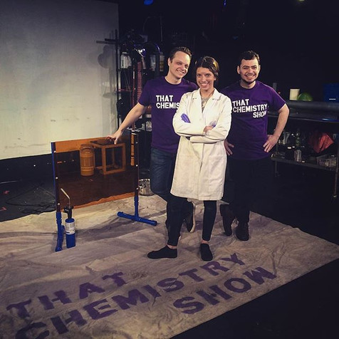 First female demonstrator of That Chemistry Show