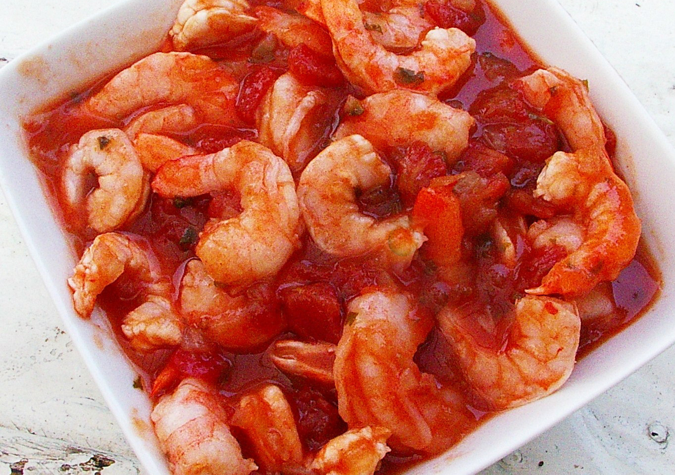 Mix your favourite Aji with ketchup and toss in the shrimp!