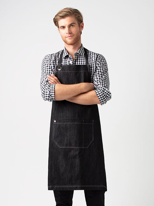 Harvest Bib Apron - Black Denim