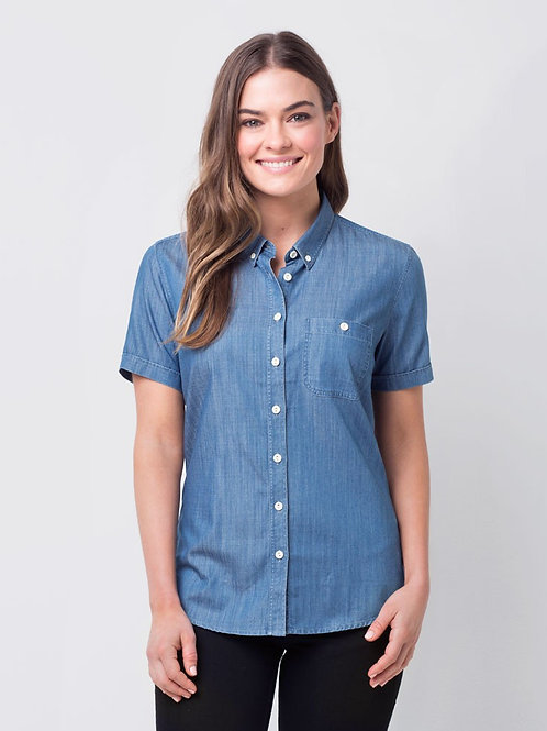 Ladies' Bailey Denim Short Sleeve Shirt