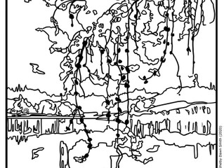 Free Colouring Page! Evening (1921) by Walter J. Phillips