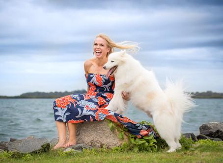 Bondi Vet Dr Alex Hynes and her dog Yoshi