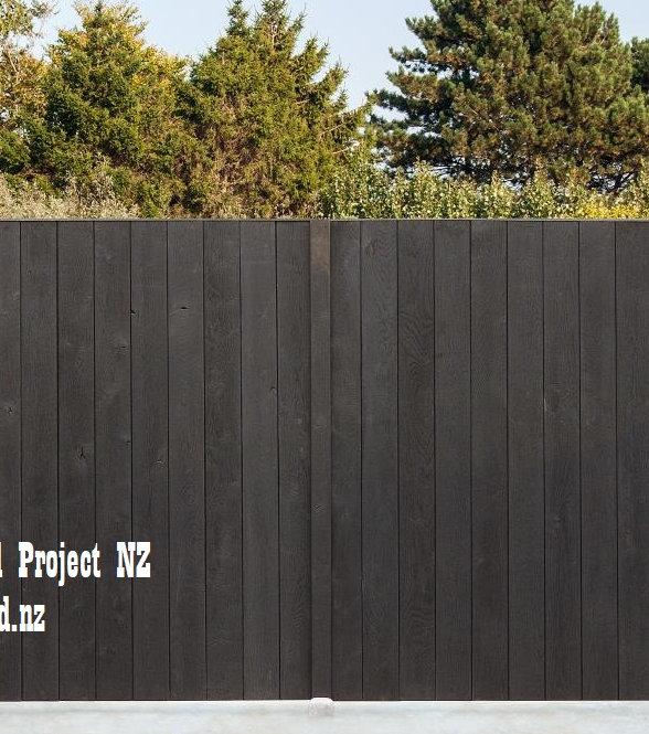 New Zealand Yakisugi Shou Sugi ban fence Charred and brushed
