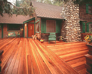 Classic Redwood decking