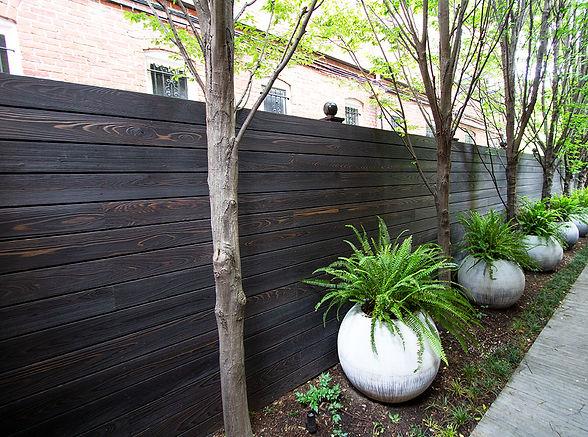 Yakisugi shou sugi ban double brushed and coloured Fence New Zealand Pika Pika NZ