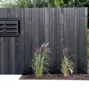 Charred Japanese Timber fence New Zealand
