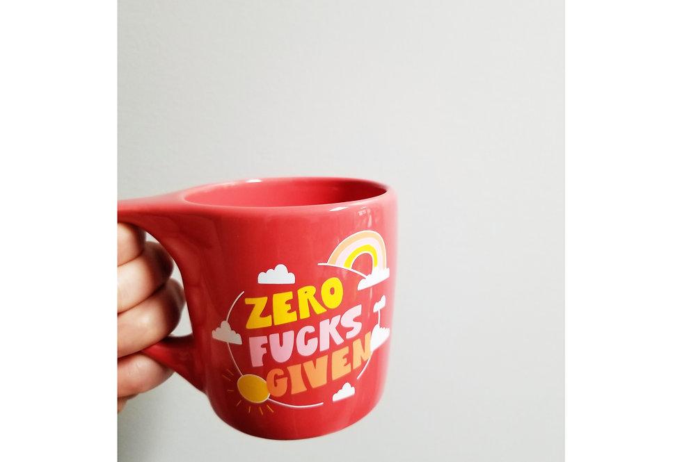ZERO F*CKS mug/