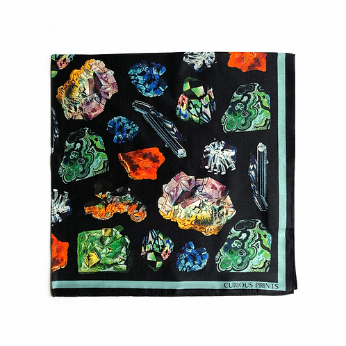 NATURAL GEMS silk scarf