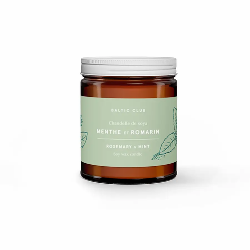 rosemary + mint soy candle.