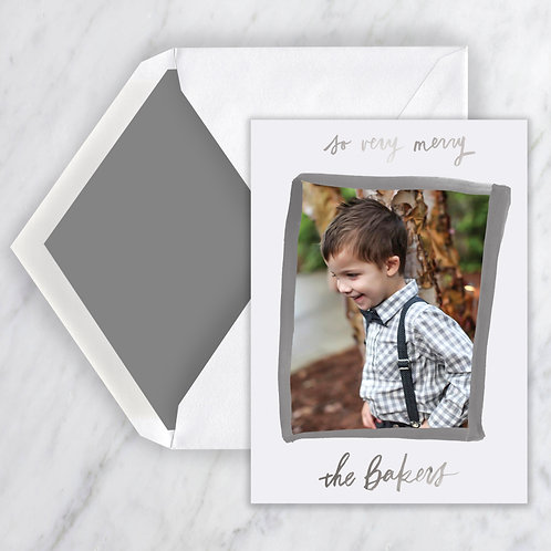 Finell Painted Border Monotone Holiday Note