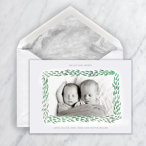 Cary Greenhouse Border Holiday Note